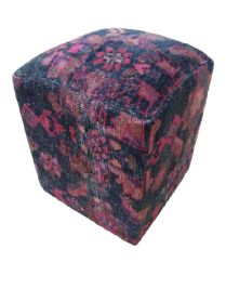 Handmade Carpet Cube Stool